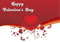 valentine's day Carte postale template