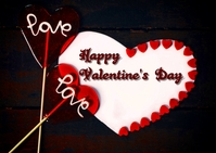 valentine's day Postcard template