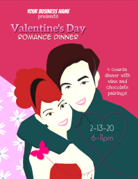 Valentine's Day Dinner Event Editable Flyer