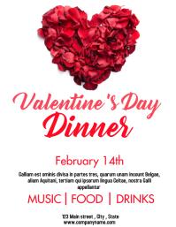 Valentine's day dinner party flyer