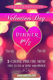 Valentine's Day Dinner Poster Template