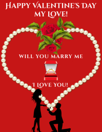 Valentine's Day Engagement Pamflet (Letter AS) template