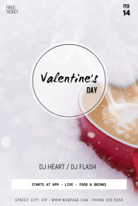 Valentine's Day Event Flyer Template