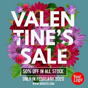 Valentine's Day Flower Sale Post