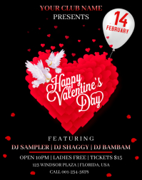 Valentine's Day Flyer Poster/Wallboard template