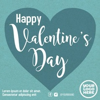 Valentine's day flying heart animation video Pos Instagram template