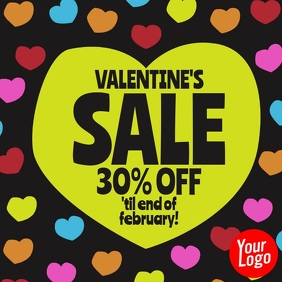 Valentine's Day Funny Hearts Sale Post