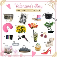 Valentine's Day Gift List for Her Instagram P template