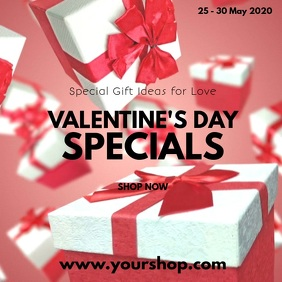 Valentine's Day Gift Offers Deals Specials Ad Cuadrado (1:1) template
