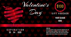 Valentine's Day Gift voucher template
