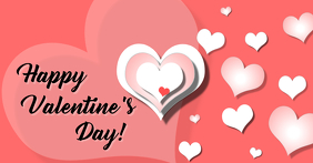 Valentine's Day greeting Facebook-annonce template