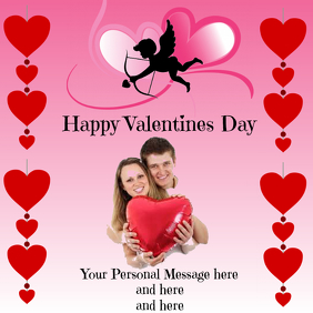 Valentine's Day Greeting Instagram Post template