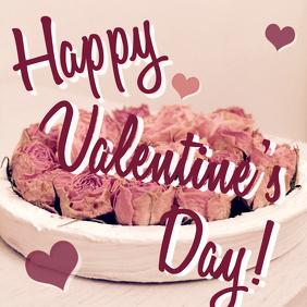 Valentine's Day greeting instagram post