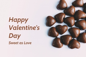 Valentine's day greeting template