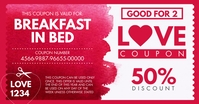 Valentine's Day Love Coupon Facebook Post Tem template