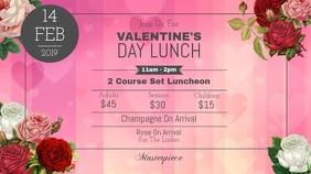 Valentine's Day Lunch Digital Display Video
