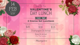 Valentine's Day Lunch Digital Display Video template