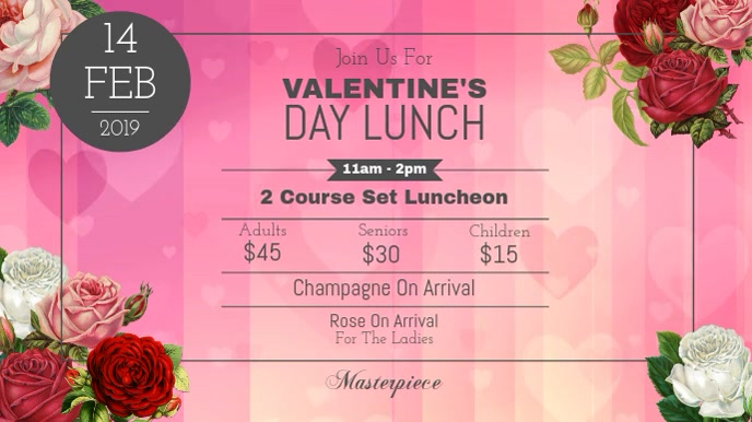 Valentine's Day Lunch Digital Display Video