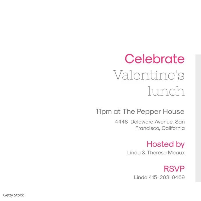 Valentine's Day Lunch Invitation Video