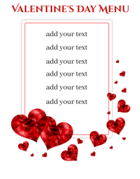 Valentine's Day Menu Poster/Wallboard template