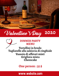 Valentine's day menu event advertisement