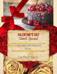 Valentine's Day Menu for Restaurants