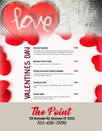 Valentine's Day Menu for Restaurants