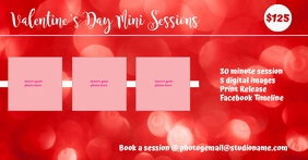 Valentine's Day Mini Session Obraz udostępniany na Facebooku template