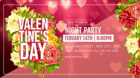Valentine's Day Party Digital Display Video template