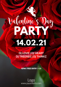 valentine's Day Party Event Amor Rose Advert