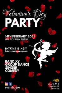 Valentine's Day Party Event Flyer Invitation