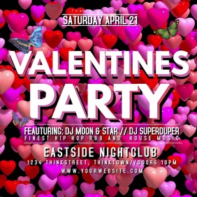 Valentine's Day Party Events Club Bar Advert