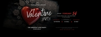 Valentine's Day Party Facebook Cover Image Zdjęcie w tle na Facebooka template