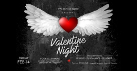 Valentine's Day Party Facebook Shared Image Obraz udostępniany na Facebooku template