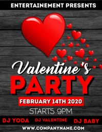 Valentine's day party flyer Pamflet (VSA Brief) template