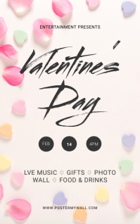 Valentine's Day Party Flyer Template Kindle Omslag
