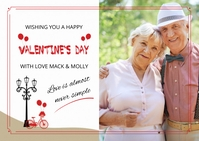 Valentine's Day Postcard A6 template