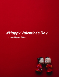 Valentine's day poster template