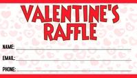 Valentine's Day Raffle Визитная карточка template