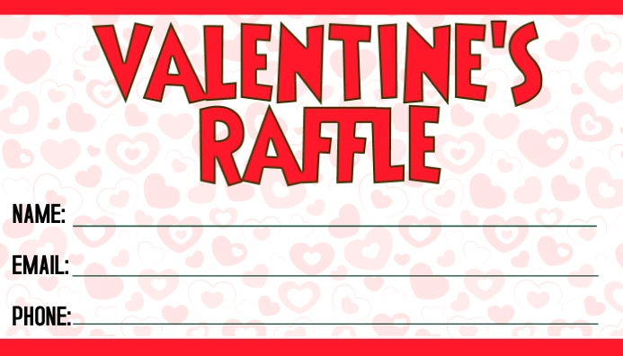 Valentine's Day Raffle Cartão de visita template