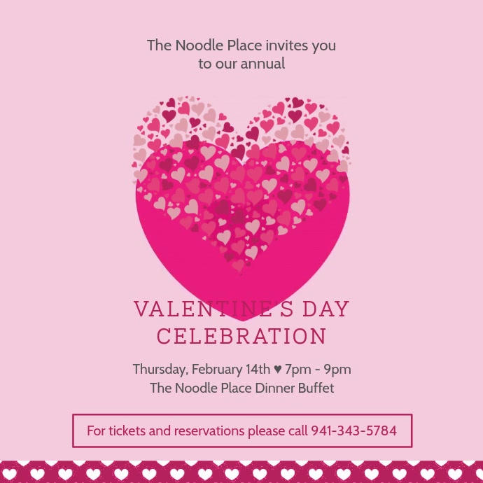 Valentine's Day Restaurant Ad Template
