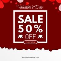 Valentine's Day Retail สี่เหลี่ยมจัตุรัส (1:1) template