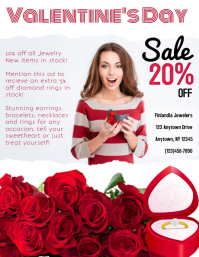 valentine's Day Retail Jewelry Flyer