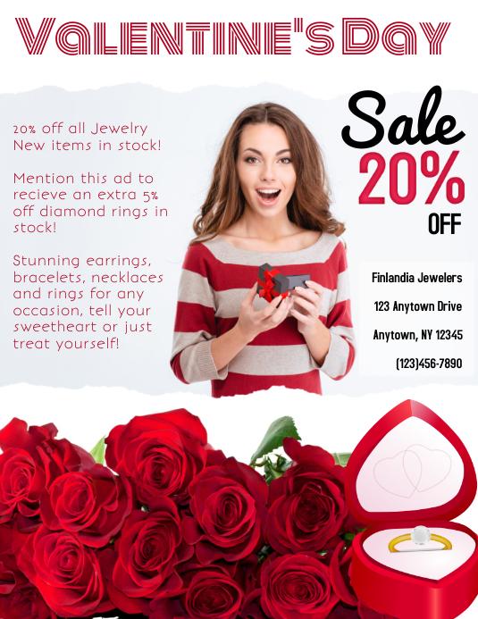valentine's Day Retail Jewelry Flyer