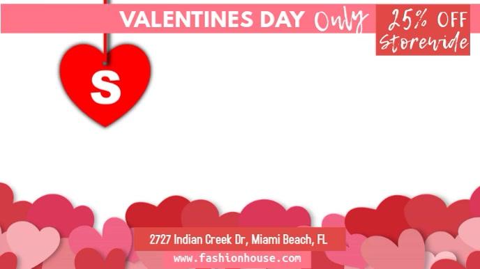 Valentine's Day Retail Sale Digital Template