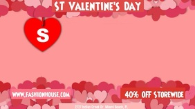 Valentine's Day Retail Sale Digital Template