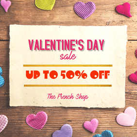 Valentine's Day retail Sale Special Instagram Post