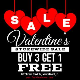 Valentine's Day Retail Sale Template