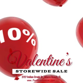 Valentine's Day Retail Sale Video Template