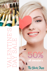 Valentine's Day Retailer Sale Flyer
